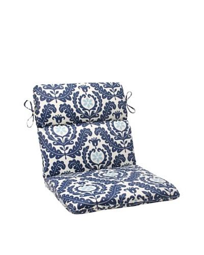 Waverly Sun-n-Shade Meridian Pool Chair Cushion [Navy/Aqua/Cream]
