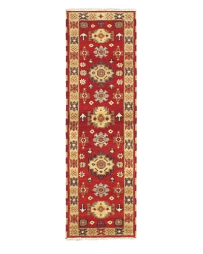 Hand-Knotted Royal Kazak Wool Rug, Red, 2' 0 x 6' 7