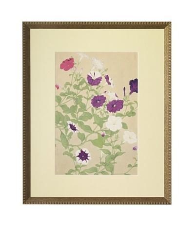 1929 Botanical Japanese Woodblock PetuniasAs You See