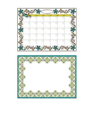Anya Dry-Erase Calendar Message Board Combo