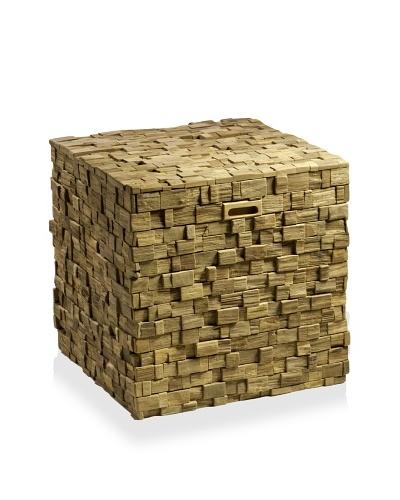 Teak Storage Cube, Natural