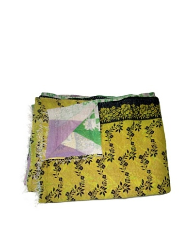 Vintage Chanda Kantha Throw, Multi, 60 x 90
