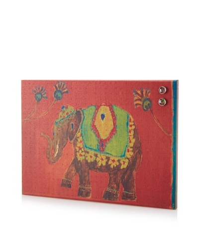 Susan Brown Elephant Lucky Day Giclee on Cork Board