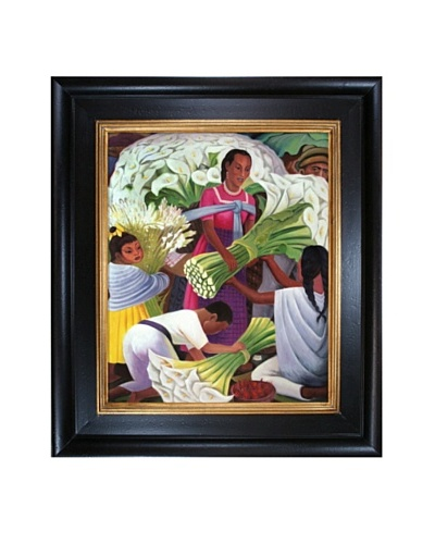Diego Rivera's The Flower Vendor Framed Reproduction Oil Painting