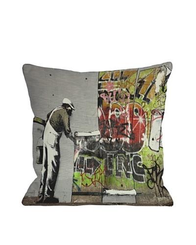 Banksy Graffiti Wallpaper Pillow