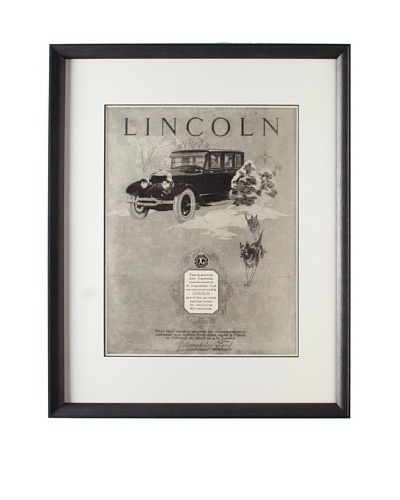 Original French Lincoln Advertisement ,1925As You See