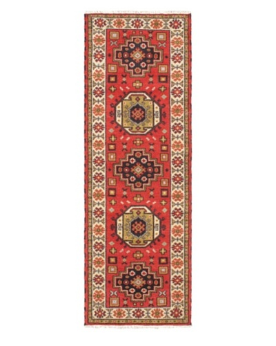 """Hand-Knotted Royal Kazak Wool Rug, Red, 2' 9"""" x 8' 3"""" Runner"""