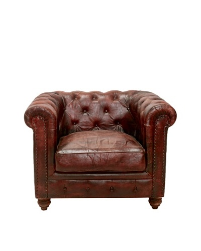 Chesterfield Club Chair, French Roast, Brown