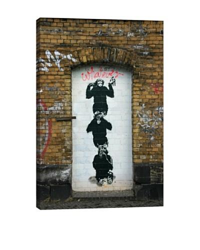 Banksy Monkey Business Canvas Print
