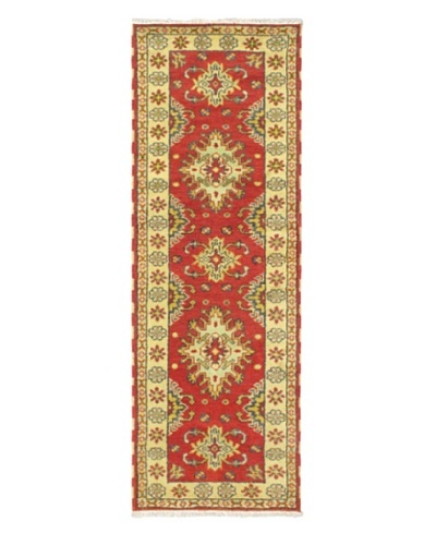"""Hand-Knotted Royal Kazak Wool Rug, Red, 2' 9"""" x 8' 2"""" Runner"""