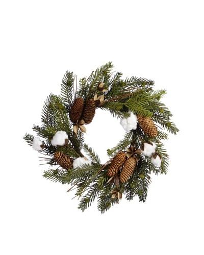 Cotton Pine Mix Wreath