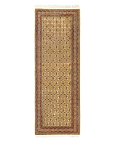 Keisari Traditional Rug, Cream/Khaki, 3' 4 x 9' 4 Runner