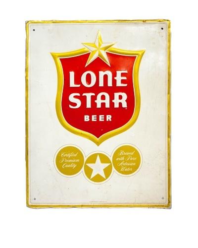 Vintage Circa 1960 Lone Star Beer Sign