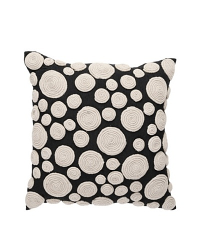 Snail Nature Pillow, Black/Beige, 18 x 18As You See
