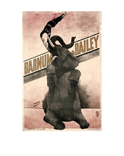 Elephant Gray Barnum & Bailey Giclée Canvas Print