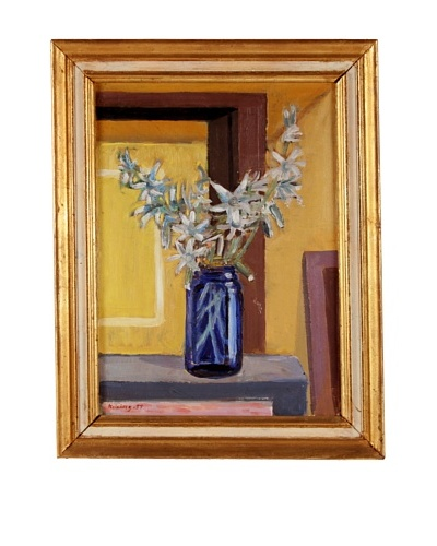 Blue Jar Framed Still Life
