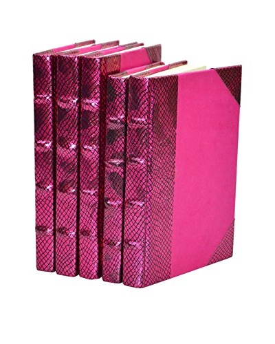 Set of 5 Exotic Metallic Collection Books, Pink