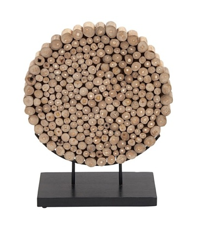 Round Teak Wood Accent Piece