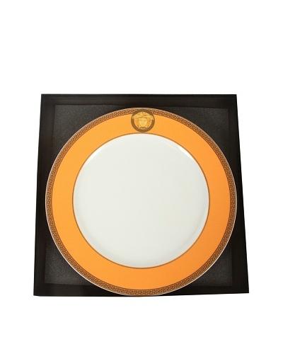 Versace Ikarus Medusa Service Plate, Orange/White/Gold