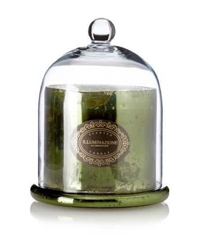 Domed Evergreen Scented Candle Jar, Olive Green