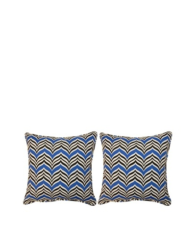 """Ripple Effect Set of 2 Corded 17"""" Pillows"""