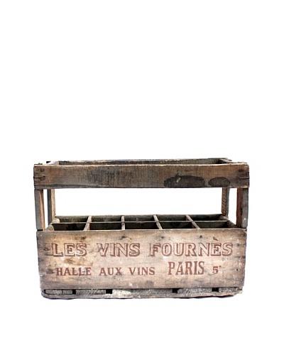 """Vintage Wine Crate """"Les Vins Pour Halle Aux Vins Paris"""