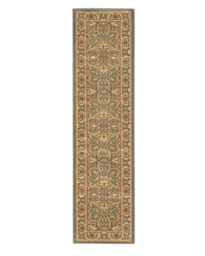 Oriental Garden Traditional Rug, Teal, 2' x 7' 7 Runner