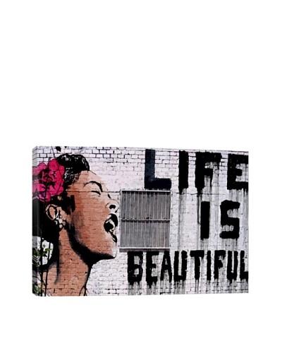 Banksy Life Is Beautiful Canvas Print