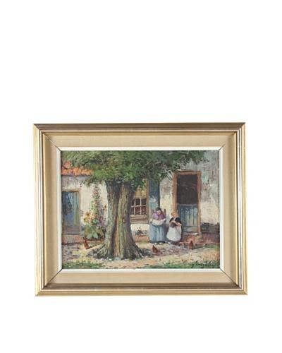 Village Of Alsace Framed Impression