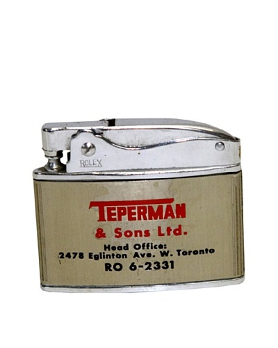Vintage Circa 1950's Teperman & Sons Ltd. Demolition Contractor Advertisement Lighter