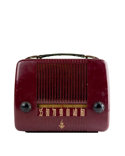 Vintage Emerson Radio, Burgundy