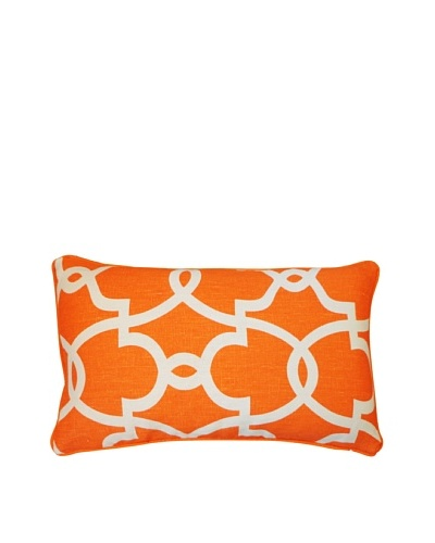 Dean Throw Pillow, Orange/Cream