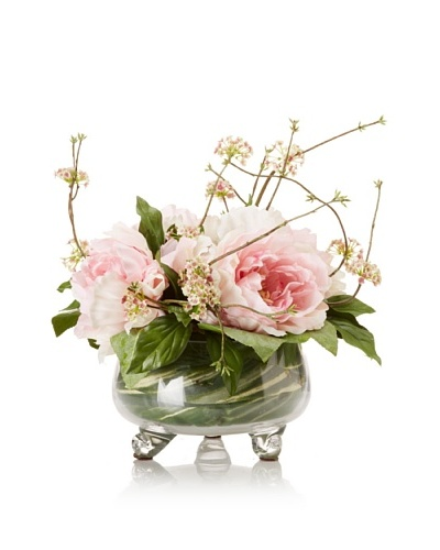 Peony Vine Bouquet in Glass