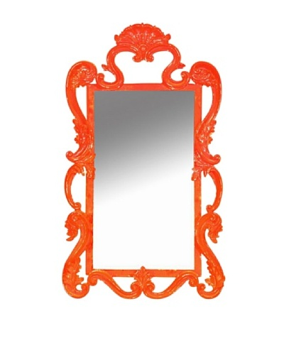 Ornate Mirror, Orange