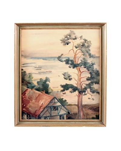 Seaside Cottage Framed Artwork