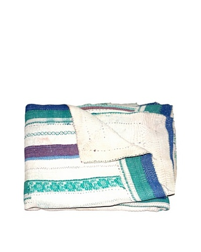 Vintage Kantha Throw, Multi