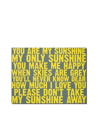Gray Sunshine, 18 x 24