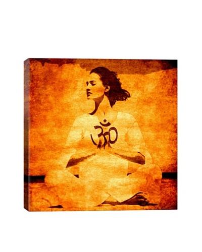 OM Spiritual Lotus Pose by Fabrizio Giclée Canvas Print