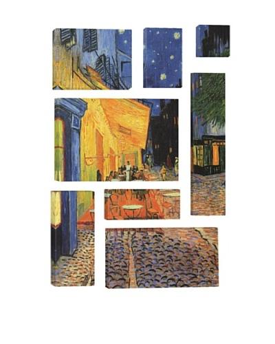 Vincent Van Gogh The Cafe Terrace on the Place du Forum, Arles, at Night 8-Piece Giclée Canvas Print