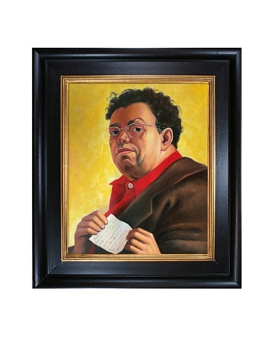 Diego Rivera's Self Portrait Dedicated to Irene Rich Framed Reproduction Oil Painting