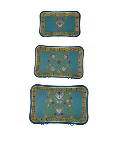 Set/3 Tin Trays