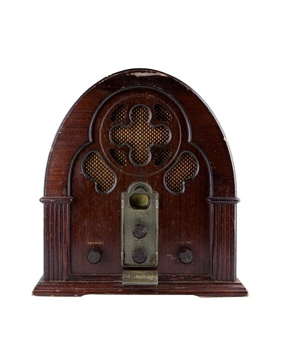 Vintage Detrola Radio, Dark Brown