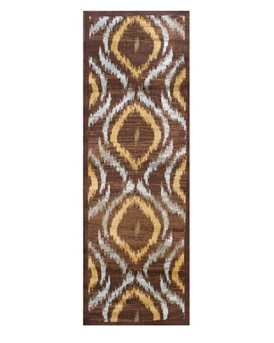 "Inspiration Area Rug, Brown/Dark Brown, 2' 8"" x 7' 8"" Runner"