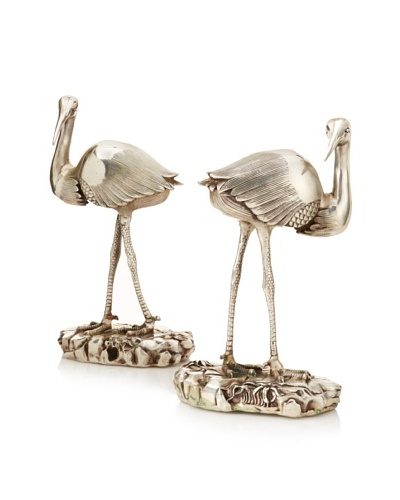 Copper Crane Pair