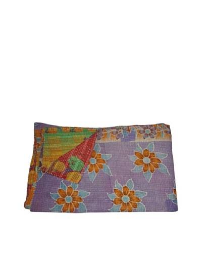 Vintage Parul Kantha Throw, Multi, 60 x 90