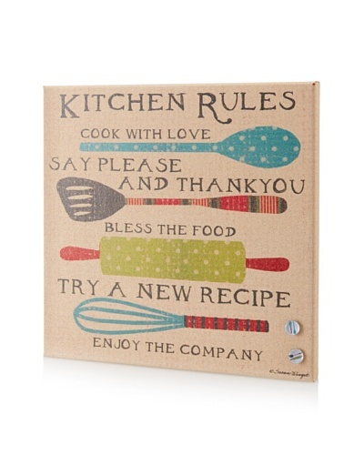 Susan Winget Kitchen Rules Giclee on Cork Board