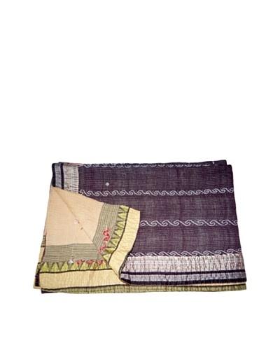 "Vintage Lavanya Kantha Throw, Multi, 60"" x 90"""