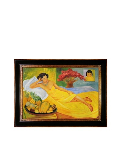 Diego Rivera's Portrait of Sra Dona Elena Flores de Carrillo Framed Reproduction Oil Painting