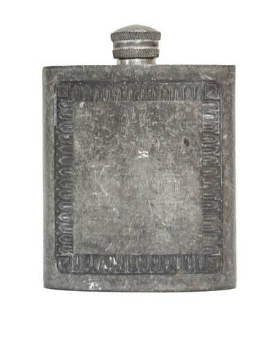 Vintage Circa 1940's Etched Flask