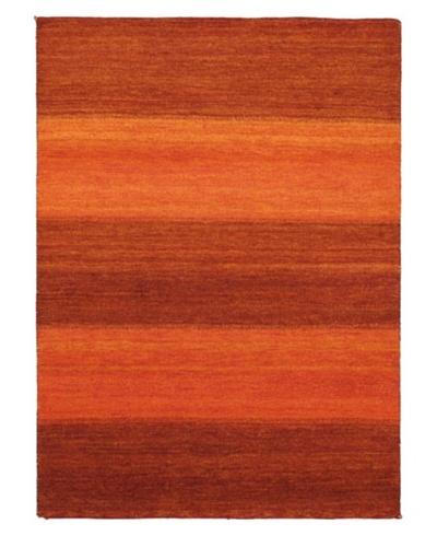 Hand-Knotted Gabbeh Modern Rug, Light Orange, 5' 9 x 7' 11